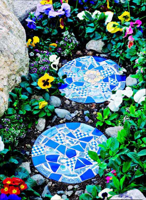 mosaic garden project 3 - Mosaic Design Ideas
