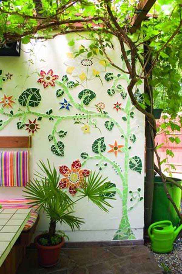 mosaic garden project 7 - Mosaic Design Ideas