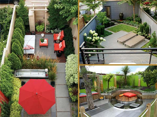 23 small backyard ideas how to make them look spacious and for Small garden landscape designs