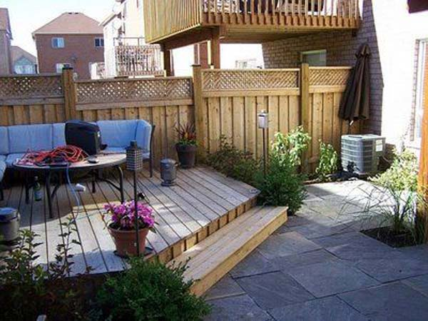 23 Small Backyard Ideas How to Make Them Look Spacious and ... on Small Back Garden Patio Ideas id=92576