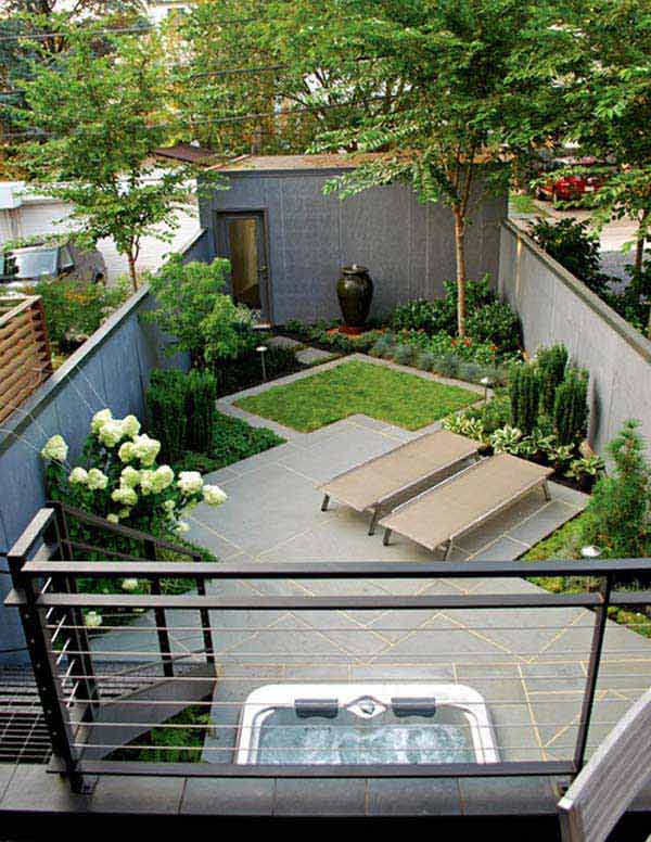 23 small backyard ideas how to make them look spacious and for Patio furniture for narrow balcony