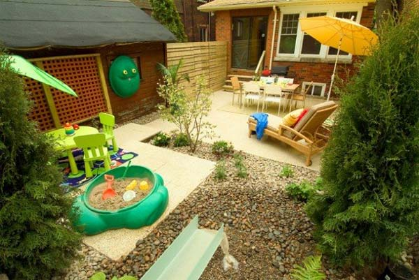 23 small backyard ideas how to make them look spacious and for Kid friendly garden design ideas