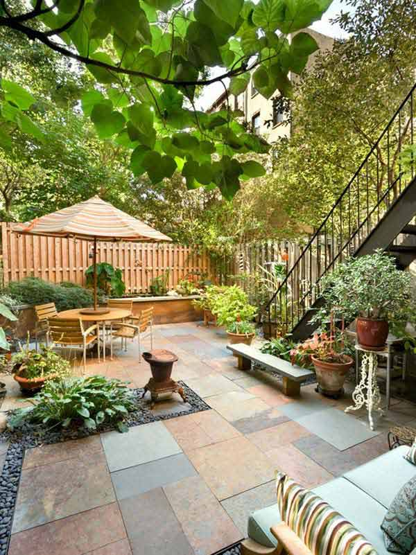 Great Small Backyard Ideas simple patio ideas for small backyards urban backyard decorating ideas small space with a modern aesthetic Small Backyard Landscaping Ideas 5