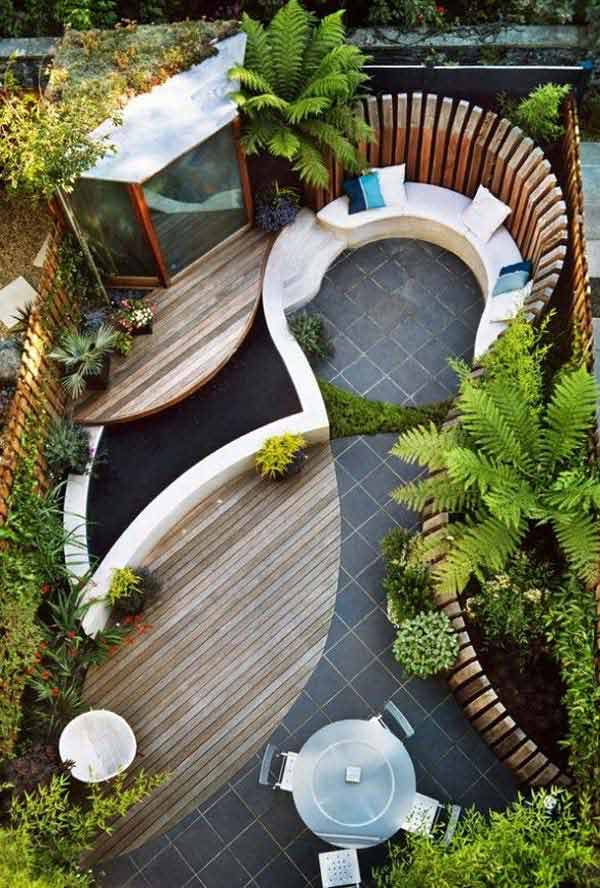 23 small backyard ideas how to make them look spacious and for Amazing small garden designs