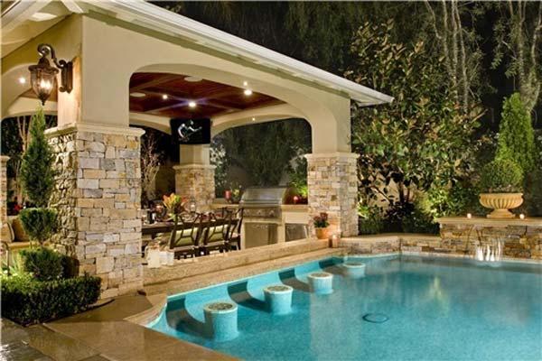 26 Summer Pool Bar Ideas to Impress Your Guests - Amazing ... on Backyard Pool Bar Designs id=77748