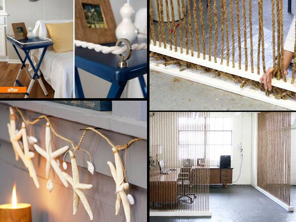 34 fantastic diy home decor ideas with rope amazing diy interior home design Homemade interior design ideas