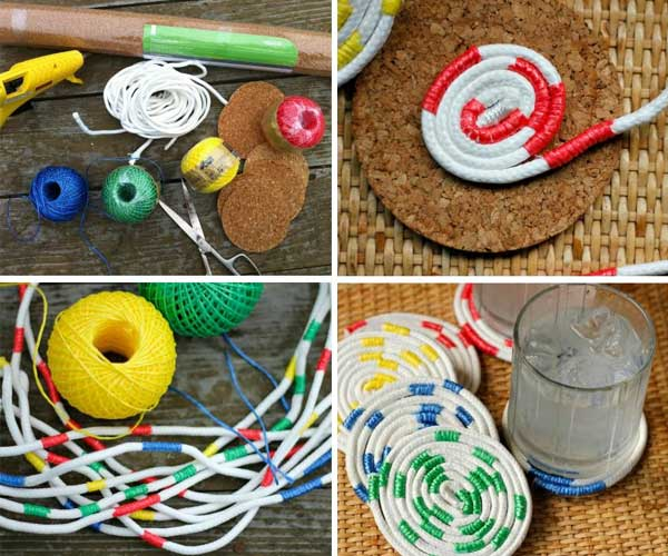 34 fantastic diy home decor ideas with rope - Home Decor Craft Ideas