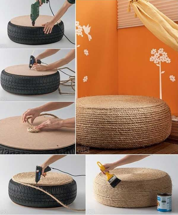 diy home decor with rope 3 - Pictures Of Home Decorating Ideas
