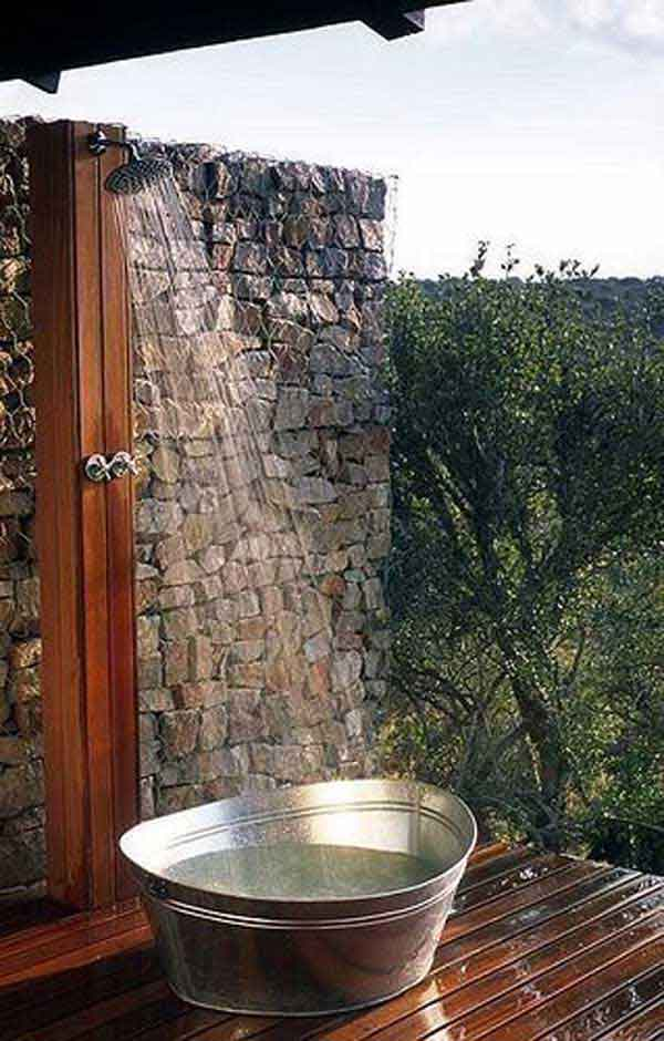 30 cool outdoor showers to spice up your backyard amazing diy interior home design. Black Bedroom Furniture Sets. Home Design Ideas