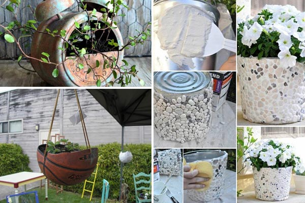 24 whimsical diy recycled planting pots on the cheap for Home decor ideas from recycled materials