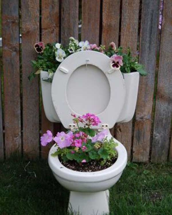 Plant Container Ideas from your Garage, Garden and Shed: Clean out your garage, look in the garden, poke around in the shed or garage sale and you're sure to find some useful items that can be repurposed as planters. Rotten logs – if you'd like to make your own planter, you can follow the instructions at .