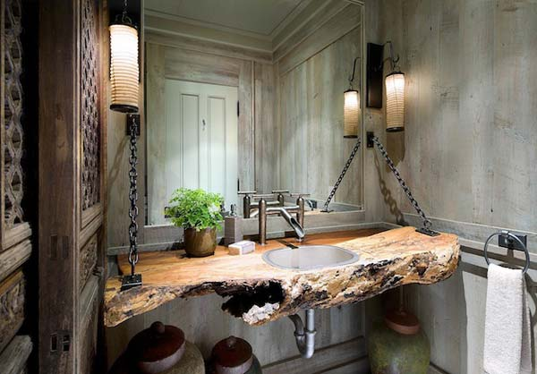 30 Inspiring Rustic Bathroom Ideas for Cozy Home - Amazing DIY ...