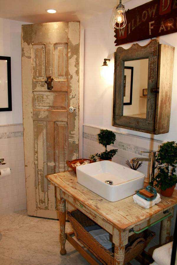 30 inspiring rustic bathroom ideas for cozy home amazing for Images of country bathrooms