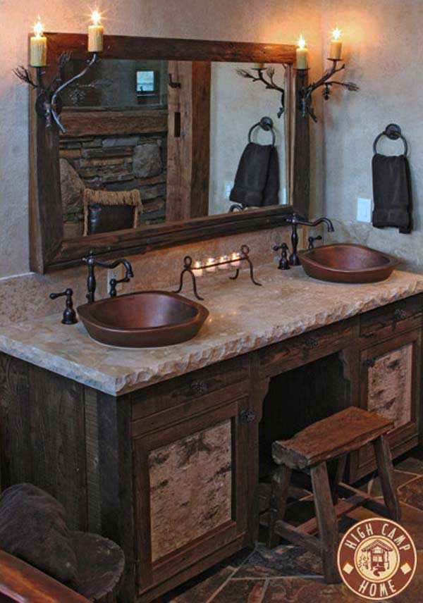 30 inspiring rustic bathroom ideas for cozy home amazing for Rustic house ideas