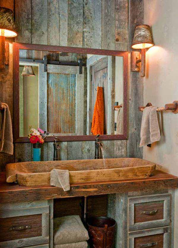 rustic bathroom ideas 20 - Bathroom Ideas Rustic