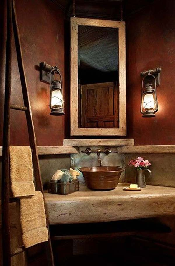 Rustic Bathrooms Designs Custom 30 Inspiring Rustic Bathroom Ideas For Cozy Home  Amazing Diy . Decorating Design