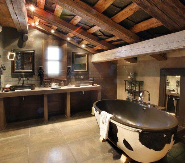 rustic bathroom ideas 29 - Rustic Bathroom