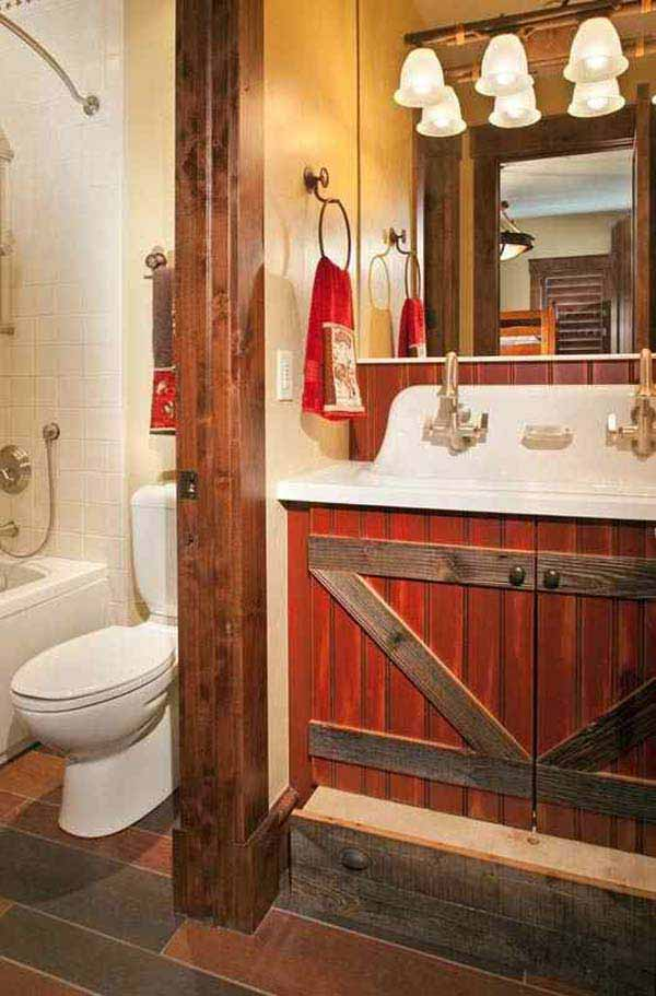 gallery for gt rustic bathroom ideas