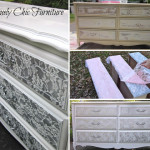 DIY Lace Painted Dresser