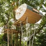 Egg-Shaped Treehouse by Baumraum