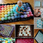 Cute DIY Rainbow Bubble Quilt