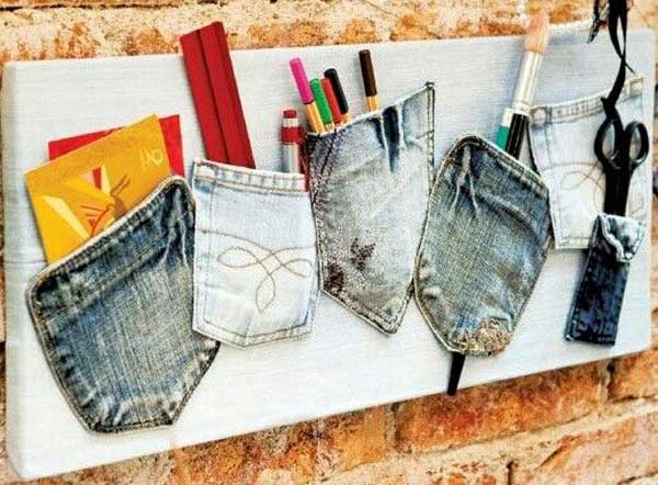 Top 25 cool diy ways to upcycle old denims amazing diy for Pinterest crafts for home decor