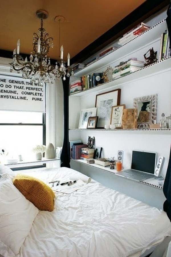 20 tiny bedroom hacks help you make the most of your space for Bedroom ideas for narrow rooms