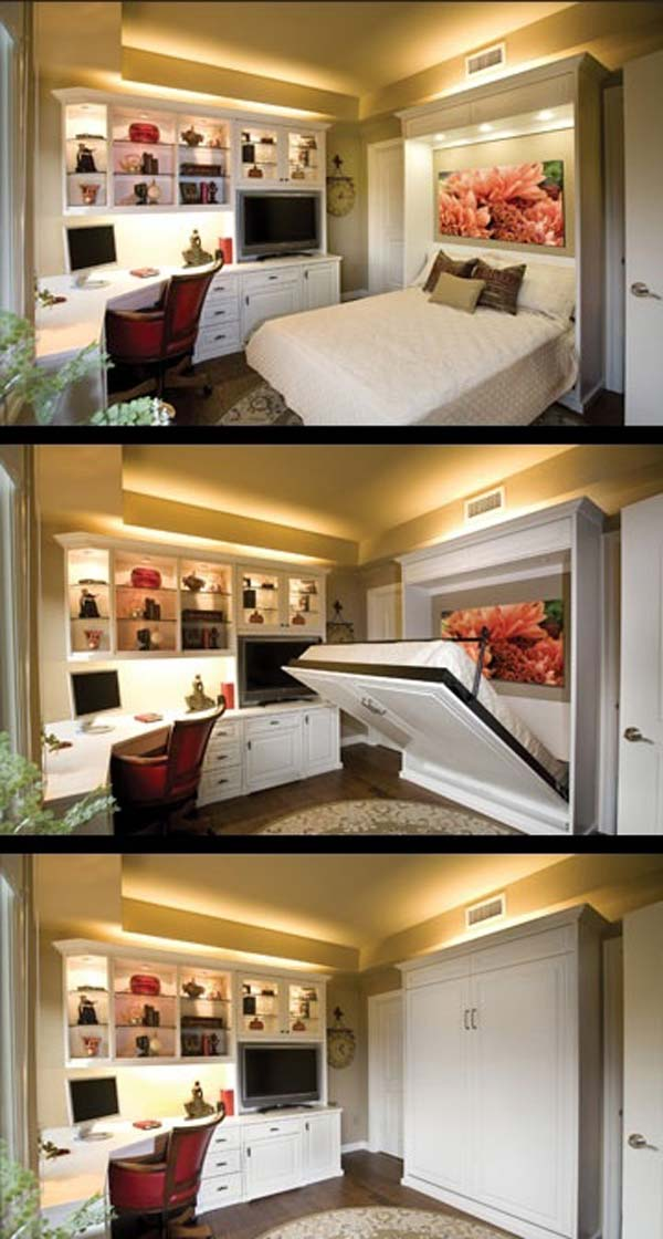 Awesome 20 Tiny Bedroom Hacks Help You Make The Most Of Your Space Download Free Architecture Designs Remcamadebymaigaardcom