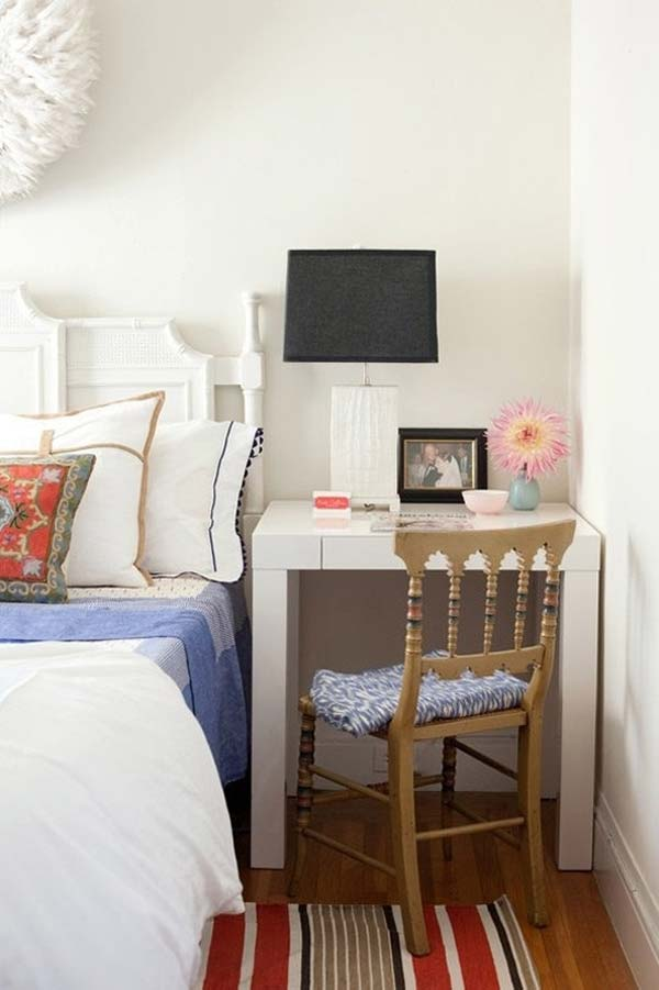 20 tiny bedroom hacks help you make the most of your space for Small bedroom double bed ideas