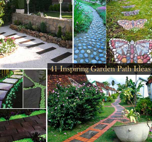 Backyard Path Ideas natural and creative stone garden path ideas 41 Inspiring Ideas For A Charming Garden Path