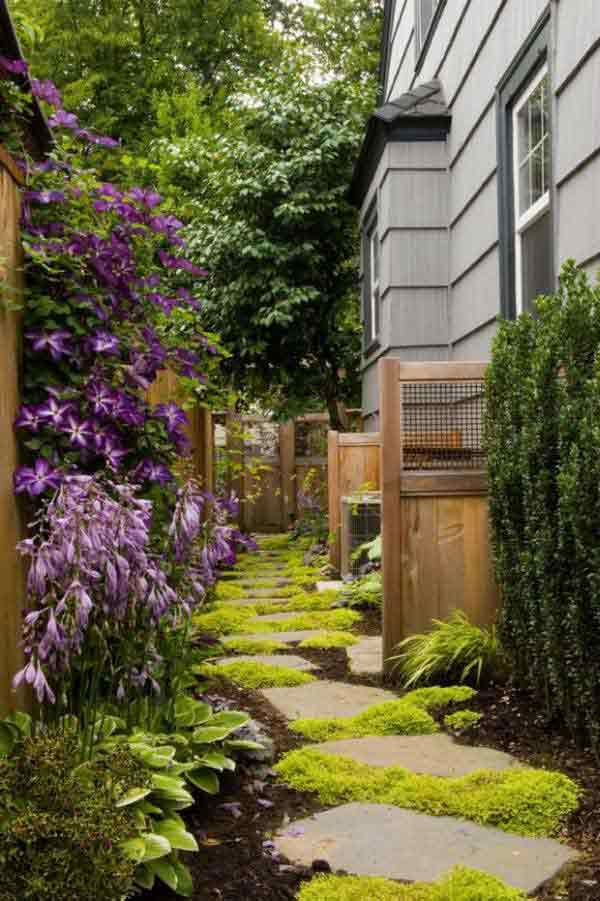 41 Inspiring Ideas For A Charming Garden Path - Amazing ... on Side Yard Path Ideas id=92208