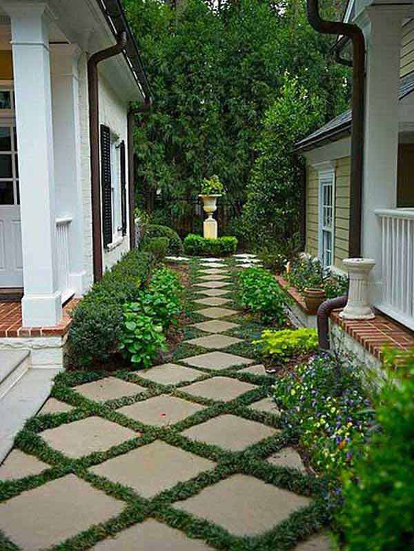 41 Inspiring Ideas For A Charming Garden Path - Amazing ... on Side Yard Path Ideas id=85605