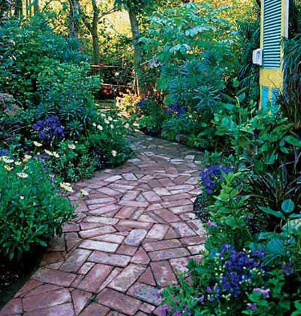 41 inspiring ideas for a charming garden path amazing for Paving designs for small garden path