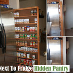 A Hidden Pantry for Next To Refrigerator