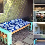 Adorable Cinderblock and Wood Bench