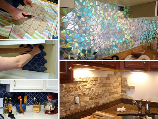 24 low cost diy kitchen backsplash ideas and tutorials for Simple diy kitchen ideas