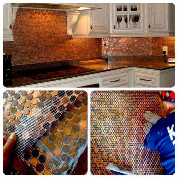 24 Low-Cost DIY Kitchen Backsplash Ideas and Tutorials - Amazing DIY ...