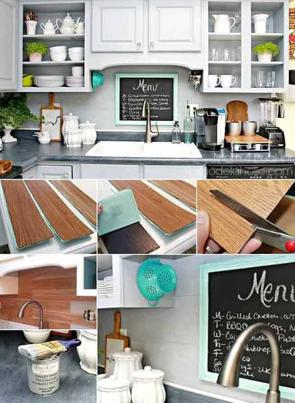 24 LowCost DIY Kitchen Backsplash Ideas and Tutorials Amazing DIY