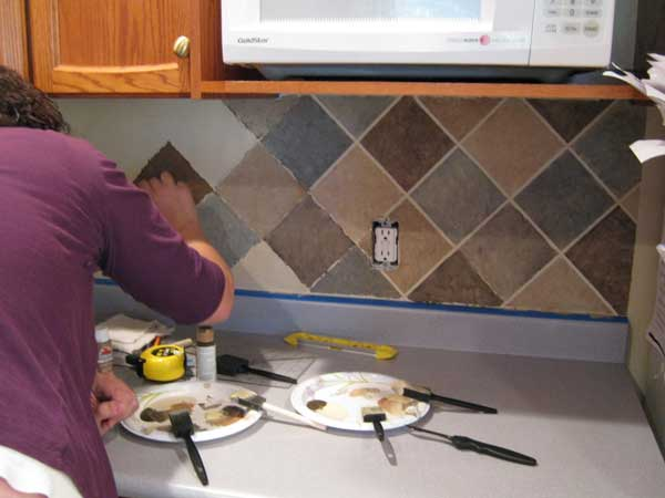 diy kitchen backsplash 6 2 - Easy Backsplash Ideas For Kitchen