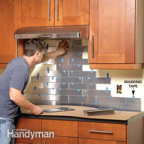 Kitchen Backsplash Easy 24 low-cost diy kitchen backsplash ideas and tutorials - amazing
