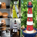 Clay Pot Lighthouse For Garden Decor