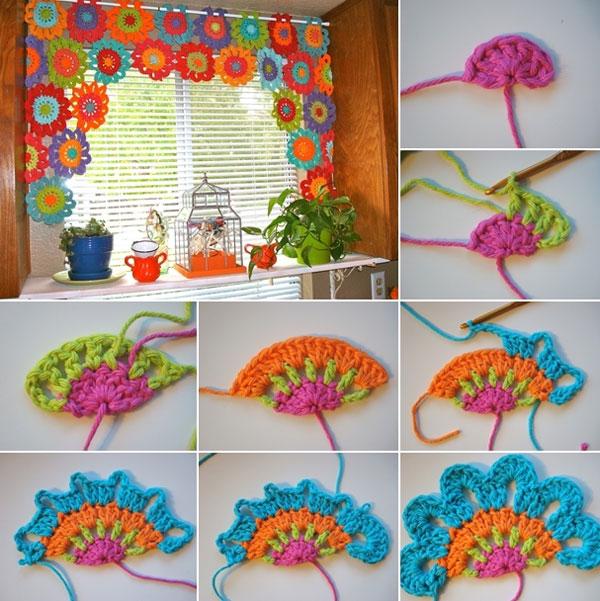 Flower-Crochet-Valance