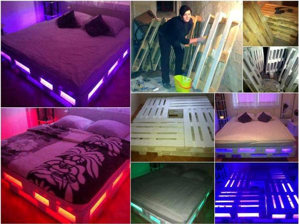 A Glowing Pallet Bed You Can Make