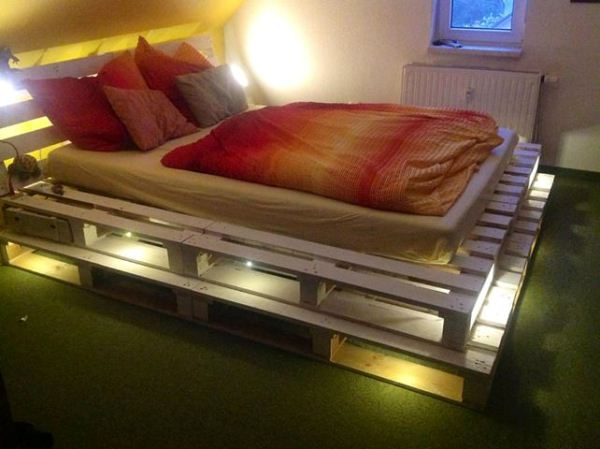 Custom Pallet Bed Frame Set