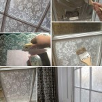 Easy DIY Lace Window Treatment