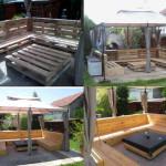 Old Wooden Pallet Patio Furniture Set