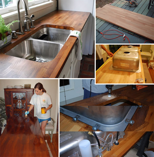 DIY Budget Friendly Butcher Block Countertops