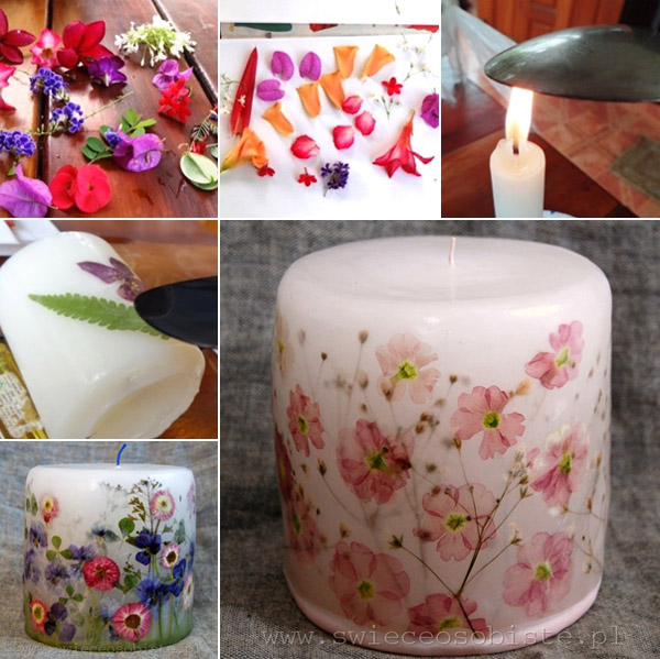 Decoupage-Flower-Candles