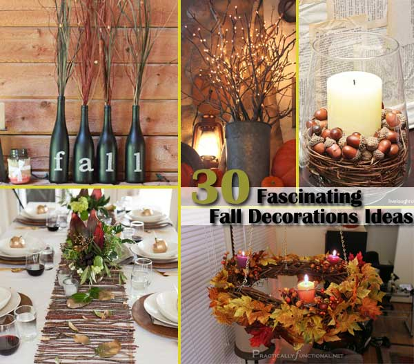 Top 30 fascinating fall decorations for your home Fall home decorating ideas diy