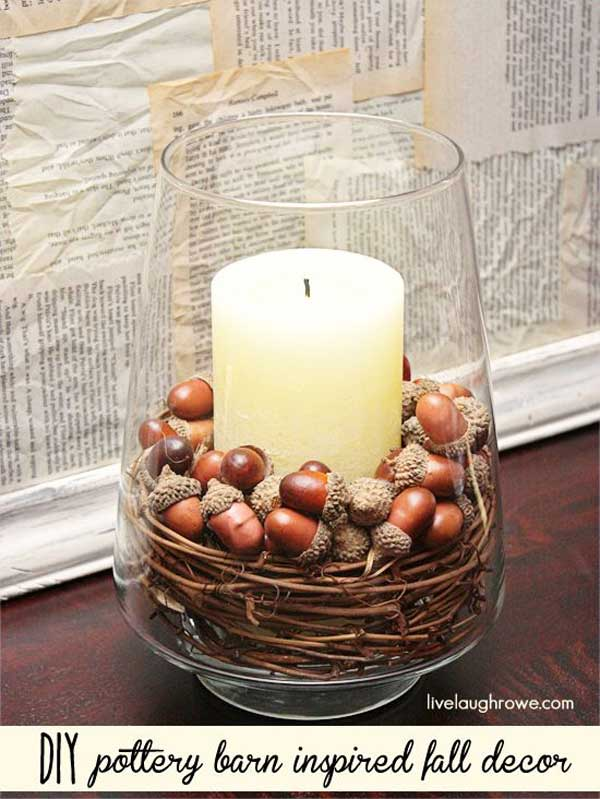 Top 30 fascinating fall decorations for your home for Homemade fall decorations for home